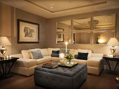 183043baoxaydung image015 Thiết kế nhà phòng khách hiện đại với gương trang trí