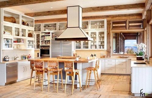 162714baoxaydung image001 Thiết kế căn bếp sang trọng với nội thất gỗ đơn giản