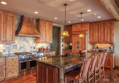 162714baoxaydung image003 Thiết kế căn bếp sang trọng với nội thất gỗ đơn giản
