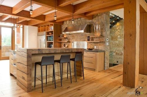 162714baoxaydung image004 Thiết kế căn bếp sang trọng với nội thất gỗ đơn giản