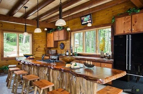 162714baoxaydung image006 Thiết kế căn bếp sang trọng với nội thất gỗ đơn giản