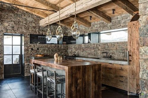 162714baoxaydung image008 Thiết kế căn bếp sang trọng với nội thất gỗ đơn giản