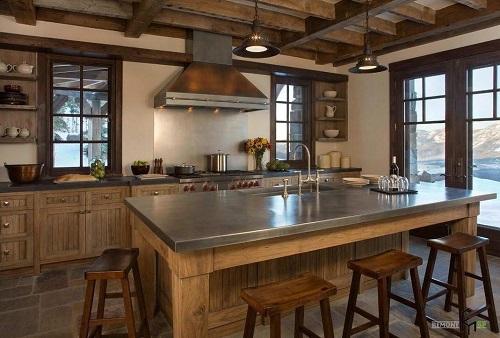162715baoxaydung image010 Thiết kế căn bếp sang trọng với nội thất gỗ đơn giản