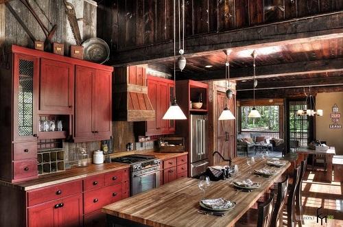 162715baoxaydung image011 Thiết kế căn bếp sang trọng với nội thất gỗ đơn giản