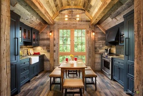 162715baoxaydung image012 Thiết kế căn bếp sang trọng với nội thất gỗ đơn giản
