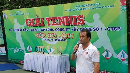 Kết thúc giải quần vợt chào mừng 37 năm thành lập TCty CC1