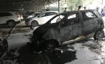 Ôtô cháy rụi trong bãi gửi xe ở Thanh Hóa