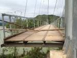 Quảng Bình: Bắt đầu công việc sửa chữa cầu treo lệch mố