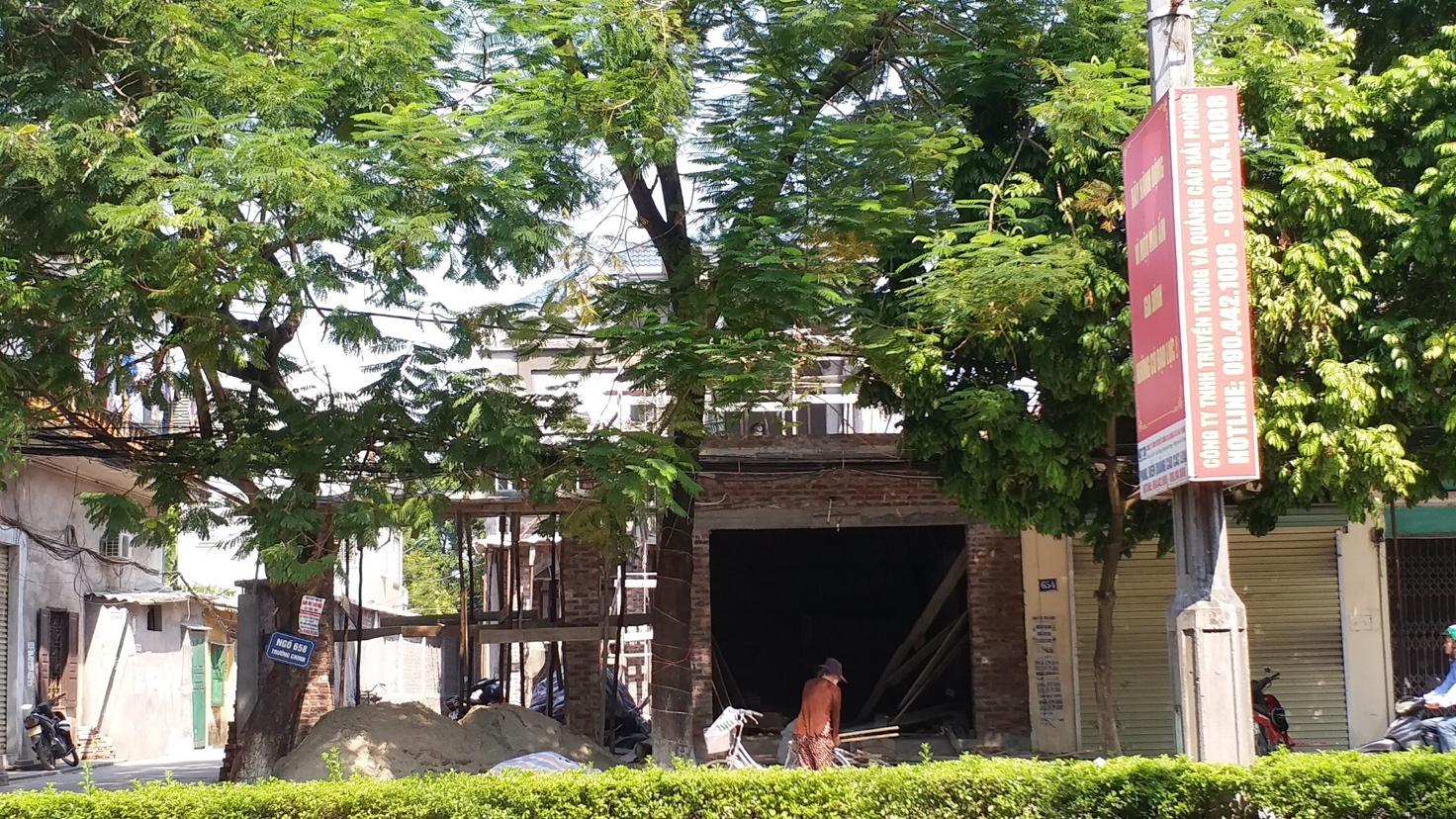 Hải Phòng: Thêm nhiều công trình vi phạm trật tự xây dựng tại phường Quán Trữ