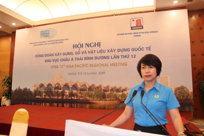 Công đoàn Xây dựng Việt Nam đăng cai tổ chức hội nghị UITBB khu vực châu Á Thái Bình Dương lần thứ XII