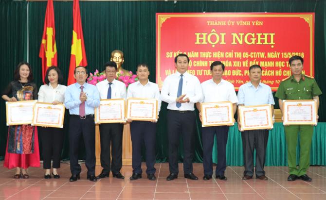 Vĩnh Phúc: Thành ủy Vĩnh Yên sơ kết 3 năm thực hiện Chỉ thị 05 của Bộ Chính trị