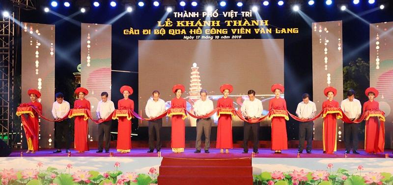 Phú Thọ: Khánh thành cây cầu trên 80 tỷ đồng