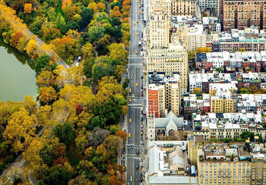 Lá phổi của New York chuyển vàng vào mùa thu