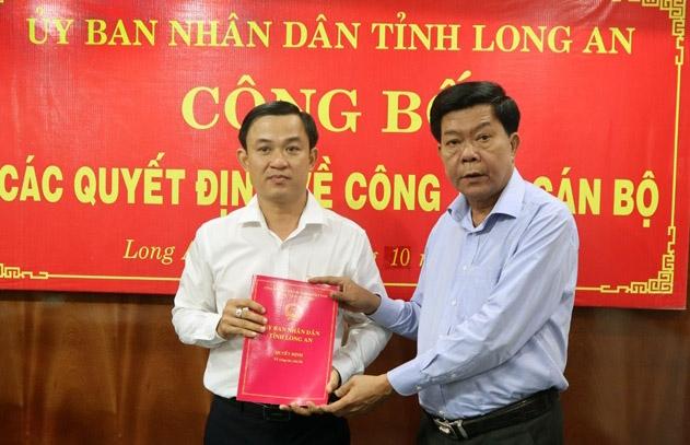 Ông Nguyễn Minh Hùng được bổ nhiệm làm Giám đốc Sở Xây dựng Long An