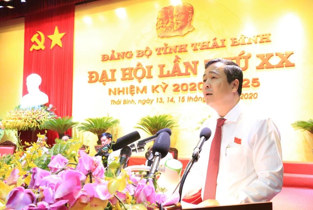 Đồng chí Ngô Đông Hải tái đắc cử Bí thư Tỉnh ủy Thái Bình nhiệm kỳ 2020 - 2025