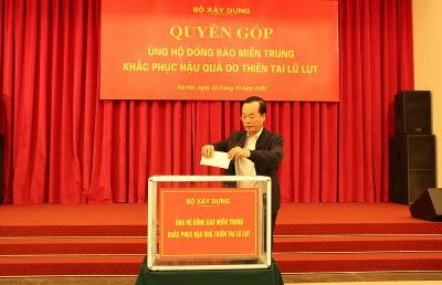 Bộ Xây dựng phát động quyên góp ủng hộ đồng bào các tỉnh miền Trung