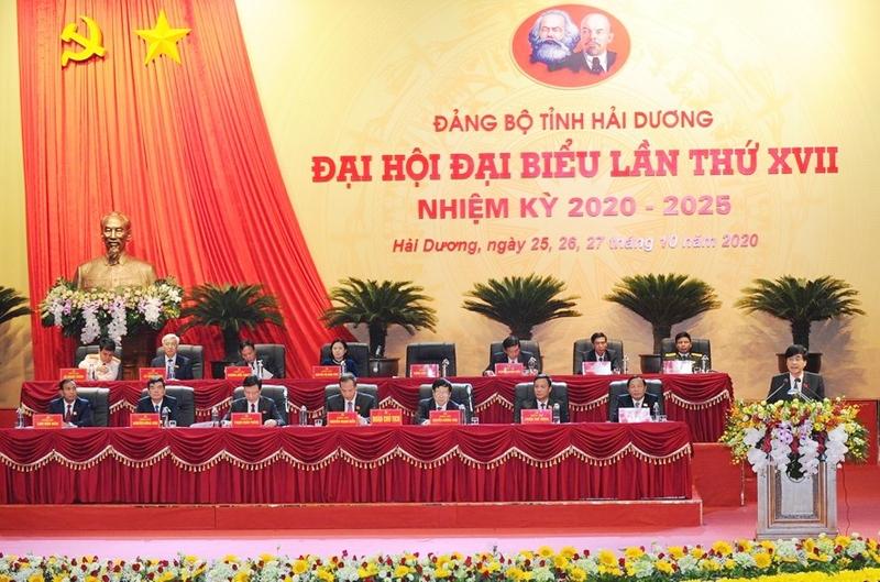ngay lam viec thu nhat dai hoi dai bieu dang bo tinh hai duong khoa xvii nhiem ky 2020 2025