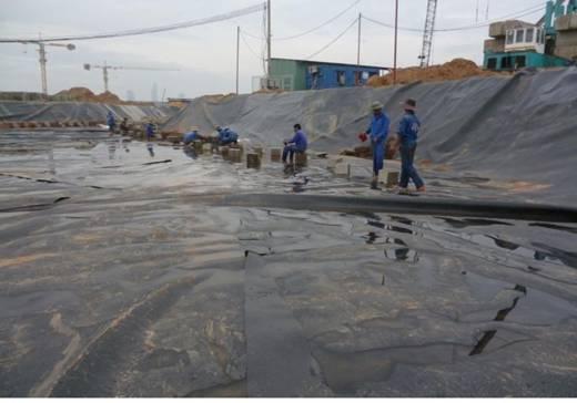 Định mức dự toán công tác khoan lỗ để phun xi măng gia cố nền đập, màng chống thấm