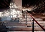 Sảnh cầu thang ấn tượng từ hàng nghìn mảnh gỗ
