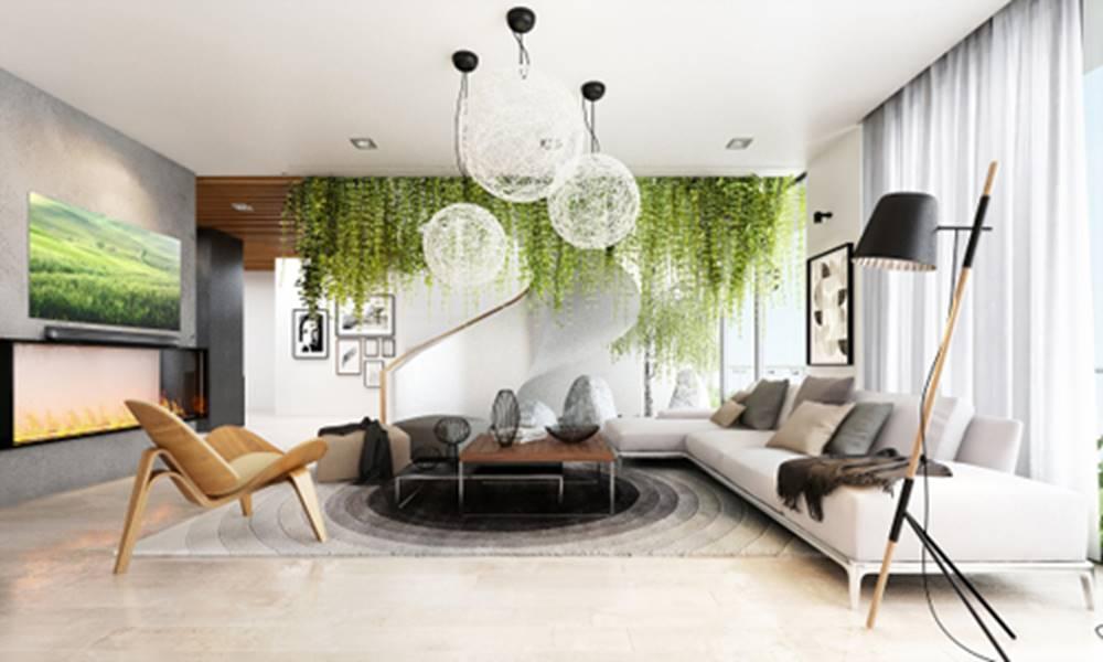Không gian xanh trong phòng khách | Tạp chí Kiến trúc Việt Nam