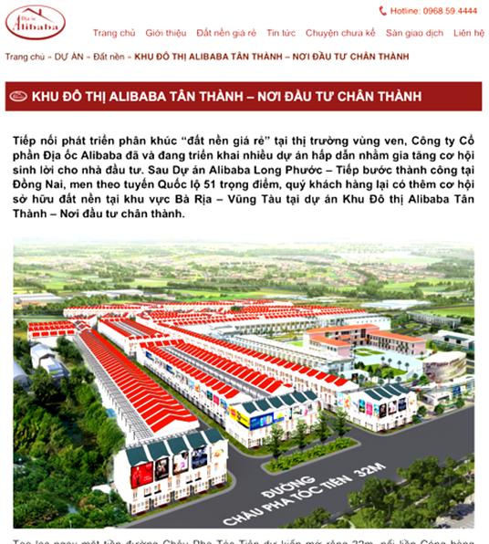 Tỉnh BR-VT: Đang xác minh tính pháp lý liên quan đến Dự án Cty Alibaba công bố tại Tân Thành