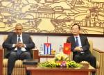 Bộ trưởng Phạm Hồng Hà tiếp Thứ trưởng Bộ Ngoại thương và Đầu tư nước ngoài Cuba Antoniocarricarte Corona