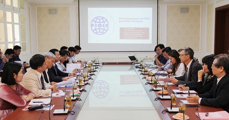 Hiệp hội quốc tế các kỹ sư tư vấn chia sẻ kinh nghiệm tư vấn với Bộ Xây dựng