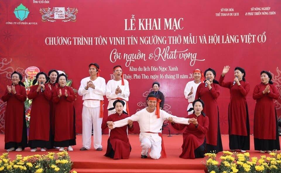 Thanh Thủy (Phú Thọ): Tôn vinh tín ngưỡng thờ Mẫu và Hội làng Việt cổ
