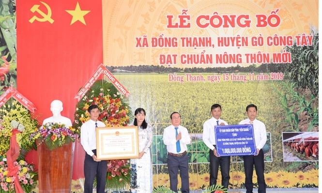 Huyện Gò Công Tây ra mắt xã nông thôn mới thứ 8