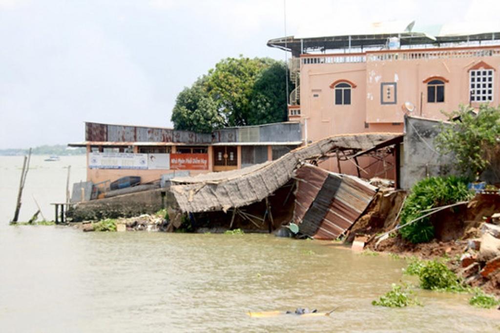 Đồng bằng sông Cửu Long đang sụt lún ở mức độ nhanh hơn so với mực nước biển dâng
