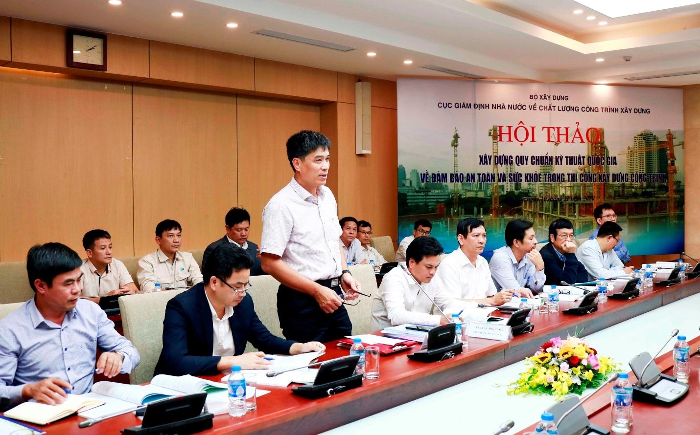 Góp ý kiến hoàn thiện QCVN 08:2020/BXD nhằm đảm bảo an toàn và sức khoẻ trong thi công xây dựng