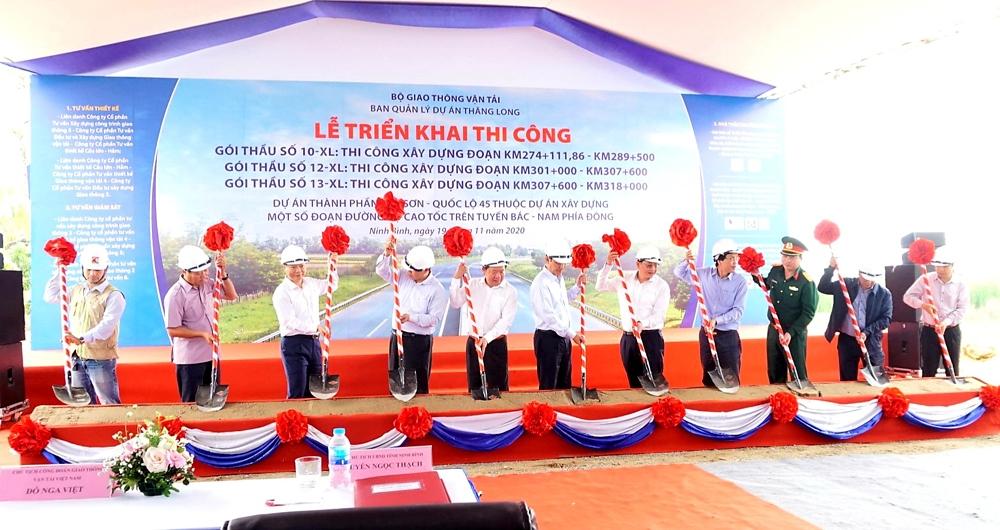Triển khai thi công các gói thầu thành phần Mai Sơn - Quốc lộ 45 dự án Cao tốc Bắc – Nam