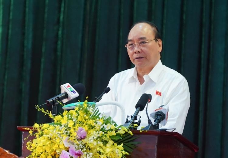 Thủ tướng Nguyễn Xuân Phúc tiếp xúc cử tri tại huyện An Lão