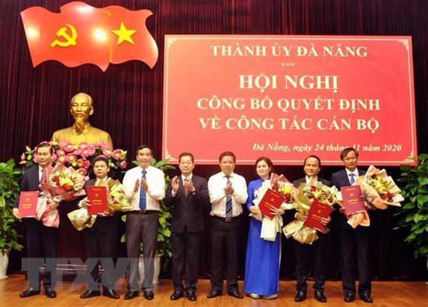 Thành ủy Đà Nẵng công bố Quyết định phân công các cán bộ chủ chốt