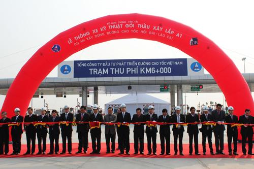 Thông xe kỹ thuật gói thầu A1 đường cao tốc Nội Bài – Lào Cai