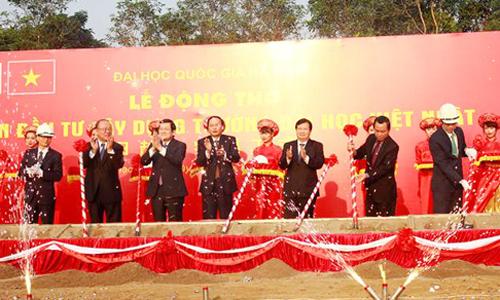Chủ tịch nước Trương Tấn Sang dự Lễ động thổ xây dựng Trường ĐH Việt - Nhật