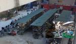 Chợ cơ khí gầm cầu Thăng Long ảnh hưởng hành lang đường sắt