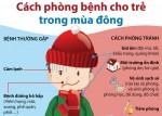 Cách phòng bệnh cho trẻ trong mùa Đông