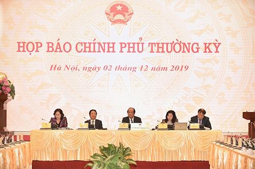 noi dung hop bao thuong ky chinh phu thang 11