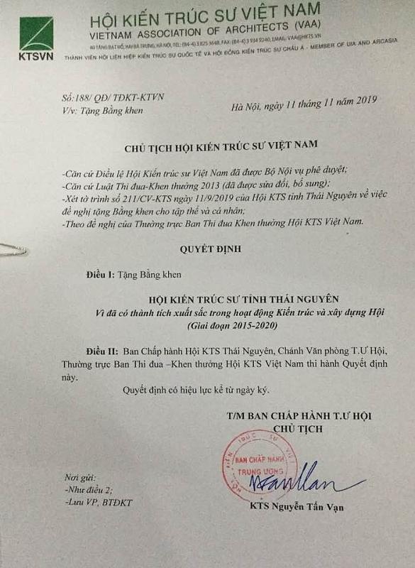 hoi kien truc su thai nguyen dong hanh cung su phat trien cua dia phuong