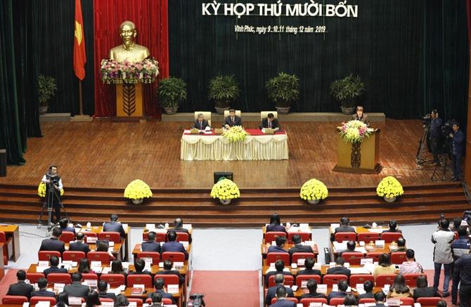 vinh phuc khai mac ky hop thu 14 hdnd khoa xvi