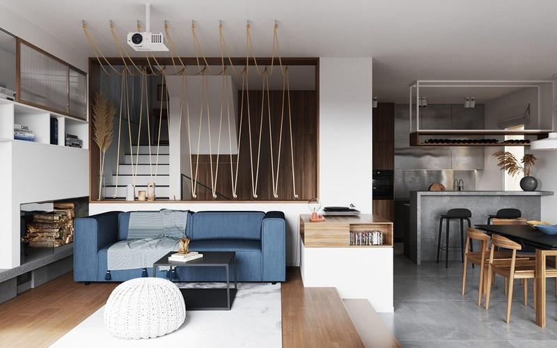 Ngôi nhà sử dụng nội thất đơn giản nhưng sang trọng