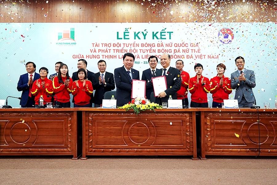 Hưng Thịnh Land tài trợ 100 tỷ đồng cho Đội tuyển bóng đá nữ Quốc gia