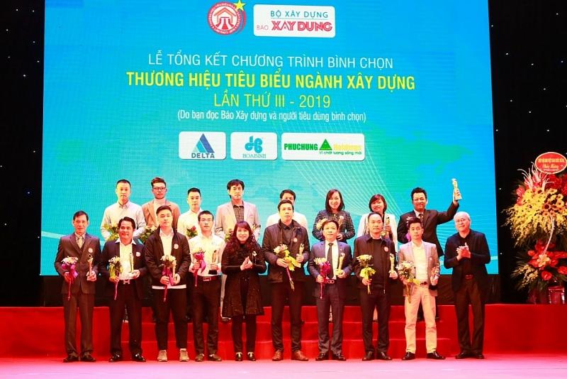 vinh danh 50 thuong hieu tieu bieu nganh xay dung nam 2019