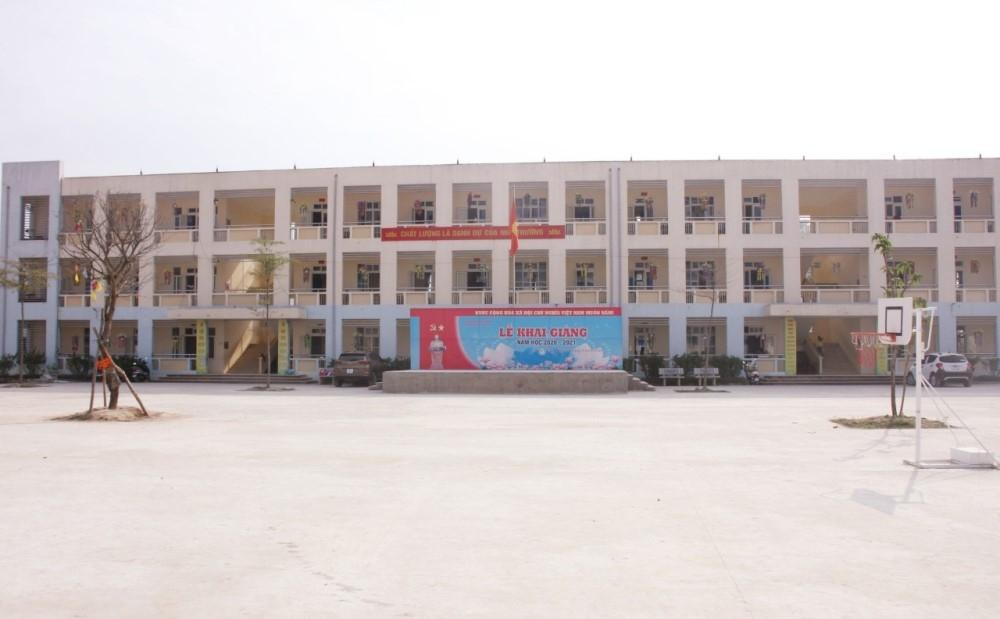 Tam Đảo (Vĩnh Phúc): Đẩy nhanh tiến độ thi công dự án trường Tiểu học Hợp Châu II giai đoạn 1