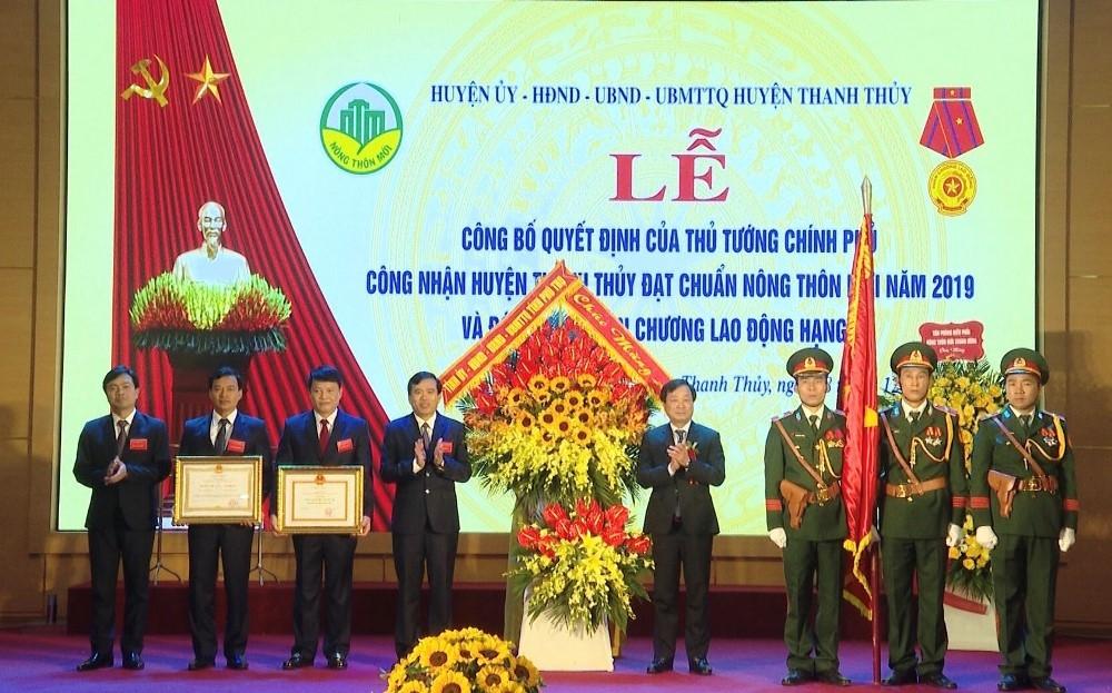 Phú Thọ: Huyện Thanh Thủy đón nhận Huân chương Lao động hạng Ba