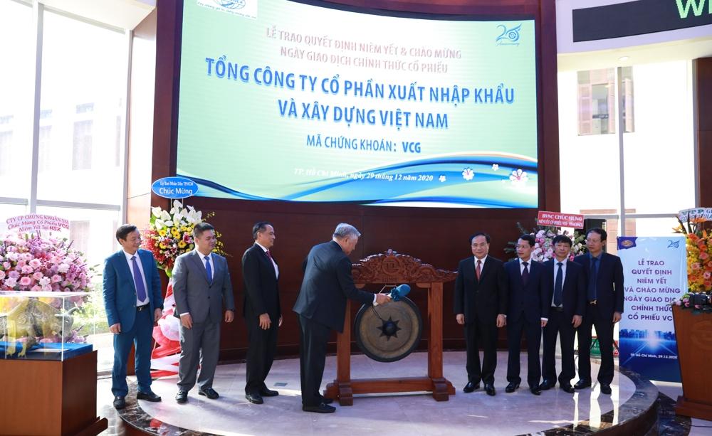 Cổ phiếu Vinaconex chính thức niêm yết tại Sở Giao dịch chứng khoán Thành phố Hồ Chí Minh