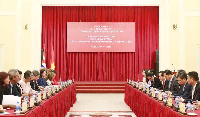 Khai mạc Kỳ họp lần thứ 37 Ủy ban Liên Chính phủ Việt Nam – Cuba