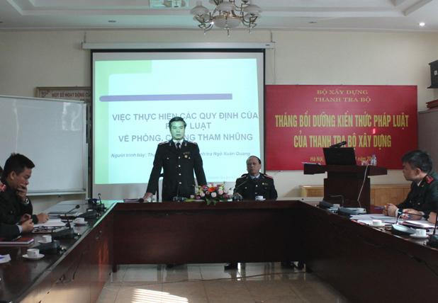 Khai mạc tháng bồi dưỡng kiến thức pháp luật của Thanh tra Bộ Xây dựng