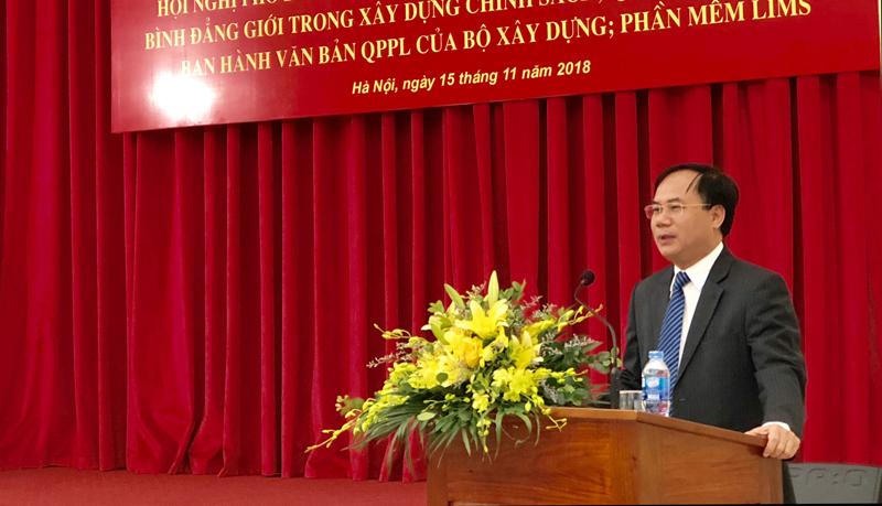 Bộ Xây dựng tổ chức Hội nghị tập huấn phổ biến pháp luật hưởng ứng ngày Pháp luật Việt Nam